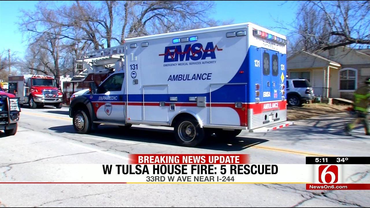 Neighbor Witnesses Tulsa Firefighters Pulling Family From Burning House