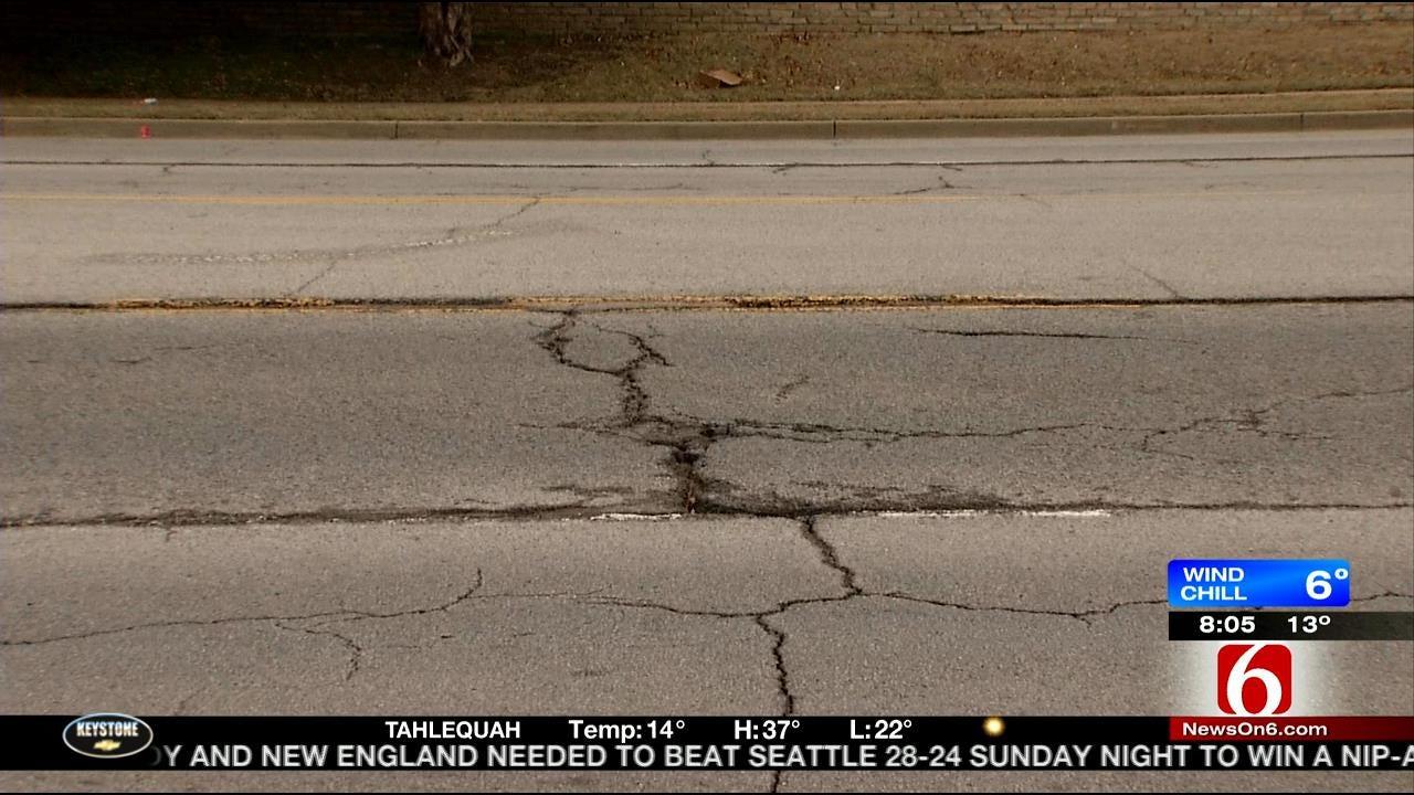 Work Begins On Year Long Tulsa's Sheridan Road Project