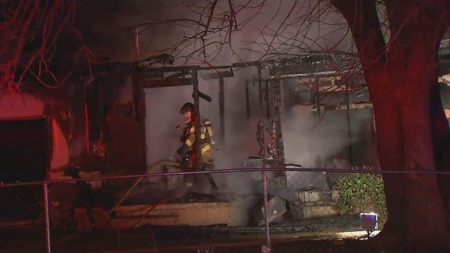 WEB EXTRA: Video From Scene Of North Cheyenne House Fire