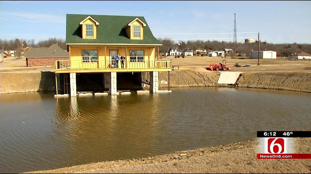 Oklahoma Man Builds Dream Home On Personal Pond