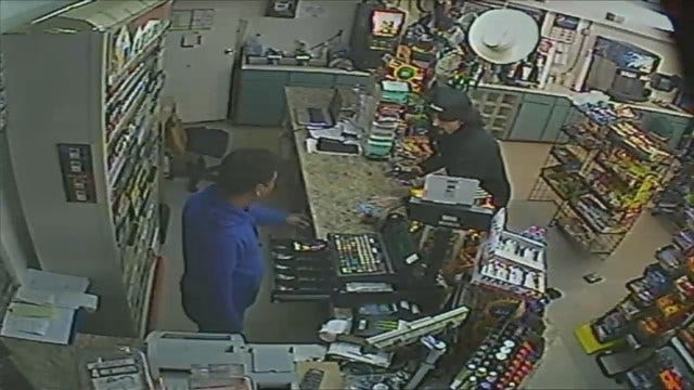 WEB EXTRA: Surveillance Video From Jenks Convenience Store Robbery