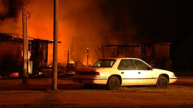 WEB EXTRA: Video From Scene Of Creek County Mobile Home Fire