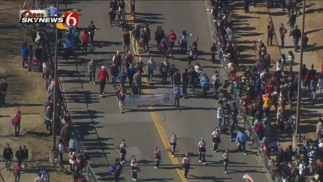 WEB EXTRA: Osage SkyNews 6 HD Flies Over Tulsa's MLK Parade