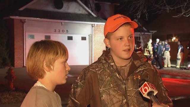 WEB EXTRA: Neighbor Kids Help Pull Man To Safety In Sand Springs Fire