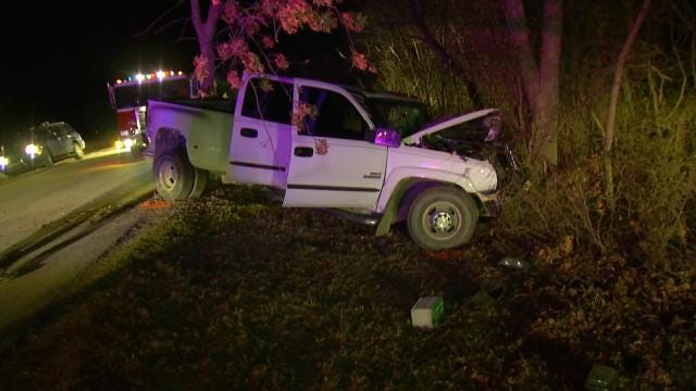 WEB EXTRA: Video From Scene Of Fatal Tulsa County Crash