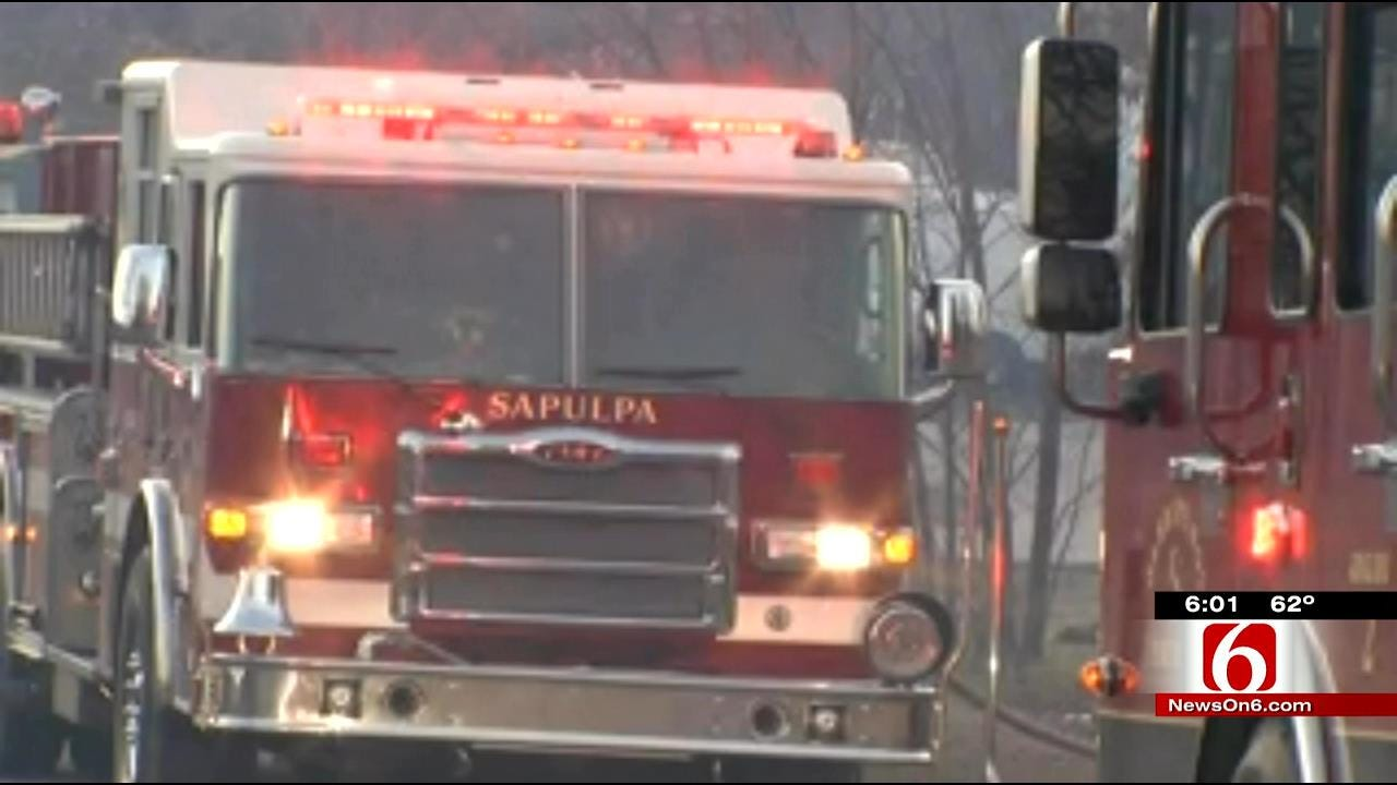 Grass Fire Between Sand Springs And Sapulpa