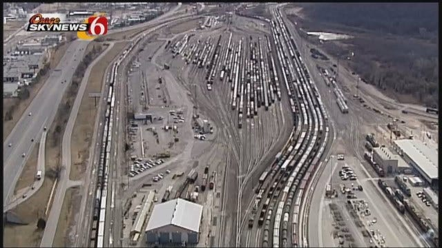 WEB EXTRA: Osage SkyNews 6 HD Video Of Cherokee Yard In West Tulsa