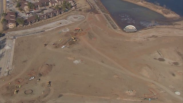 WEB EXTRA: Aerial View Of River West Festival Park Construction