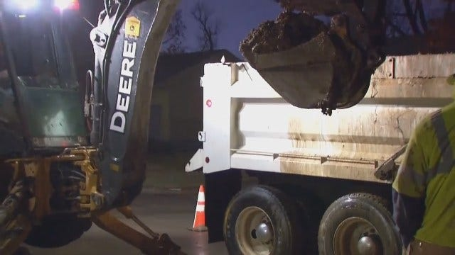 WEB EXTRA: Video From Scene Of Tulsa Main Break