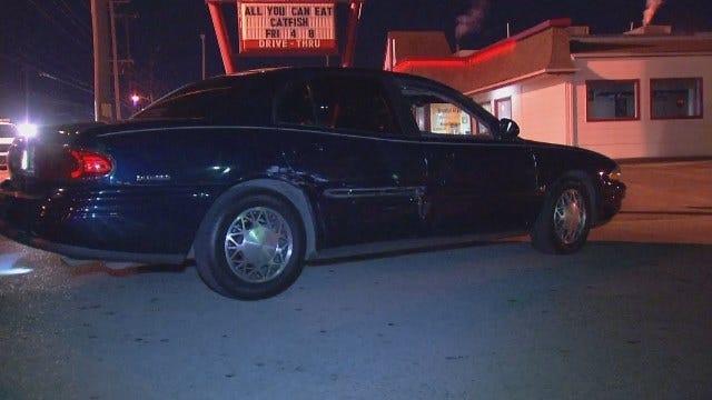 WEB EXTRA: Pickup Driver Hits Buick, Sign Pole After Leaving Tulsa Bar