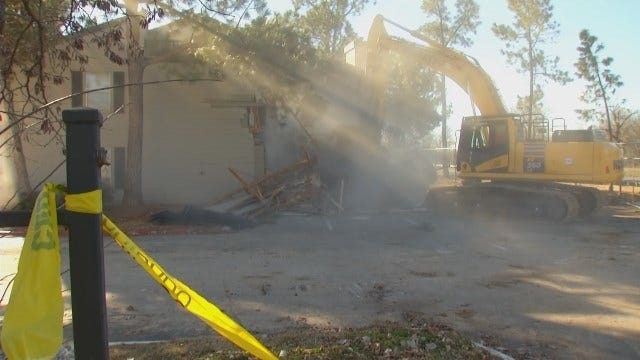 WEB EXTRA: Video Of Demolition Work Underway On Riverside Drive