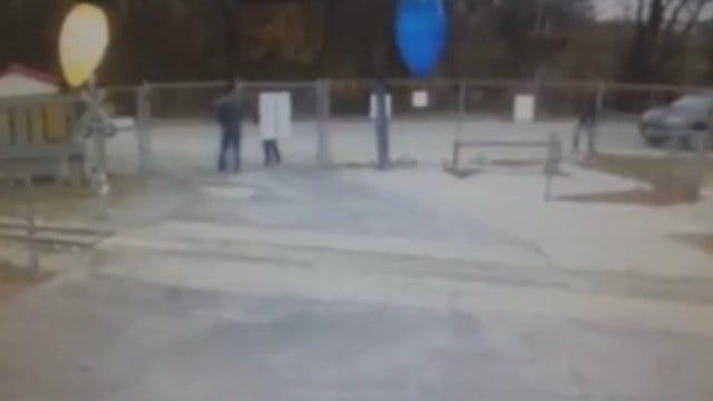 WEB EXTRA: Surveillance Video Of Vandals At Johnstone Park