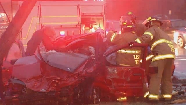 WEB EXTRA: Video From A Midtown Tulsa Collision