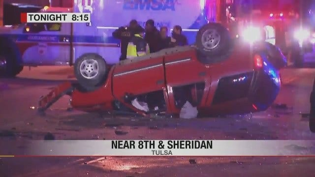 Two Critical After Rollover Wreck In Tulsa