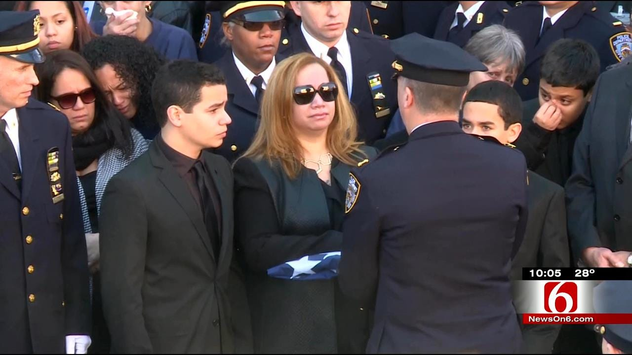 Thousands Mourn Loss Of Slain NYPD Officer
