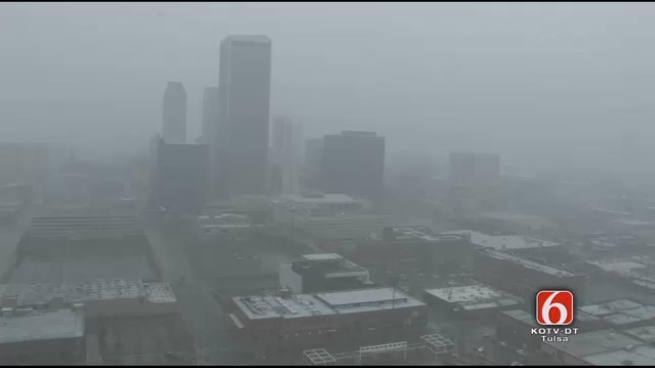 WEB EXTRA: Downtown Tulsa Snowfall