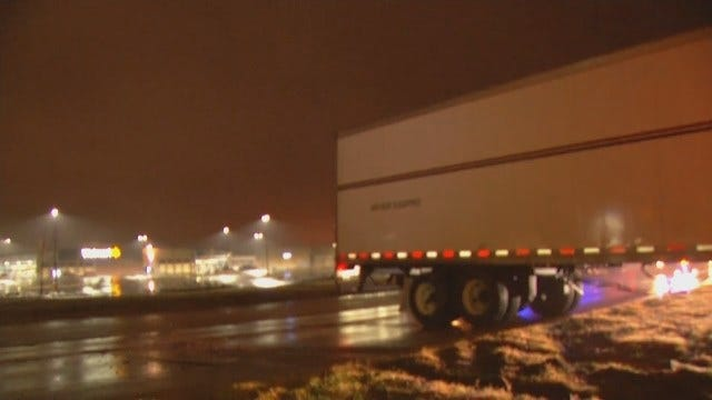 WEB EXTRA: Video Of Jack-Knifed Semi Near Catoosa Casino