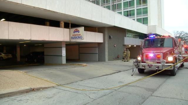 WEB EXTRA: Video From Scene Of Car Fire In Downtown Tulsa Parking Garage