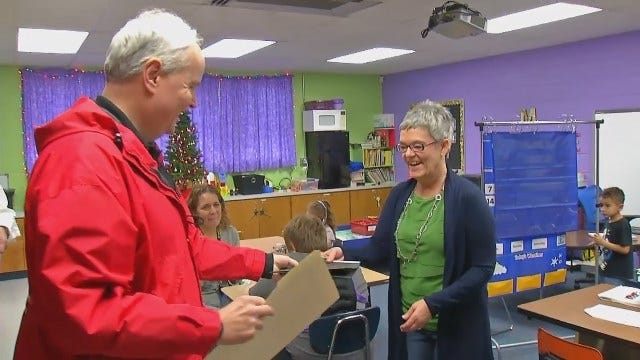 WEB EXTRA: Sand Springs Education Foundation Hands Out Grant Money