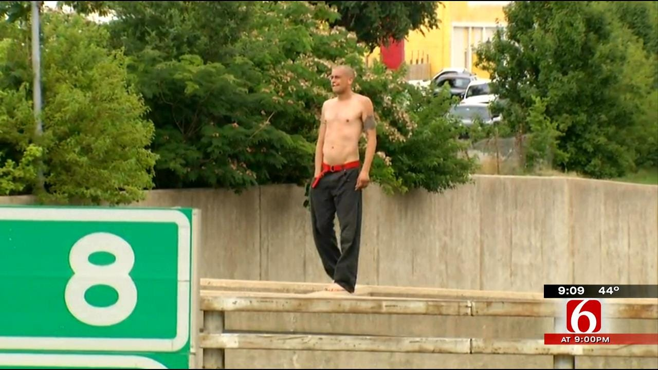 Tulsa Police Seek Man Never Arrested After Bridge Stunt