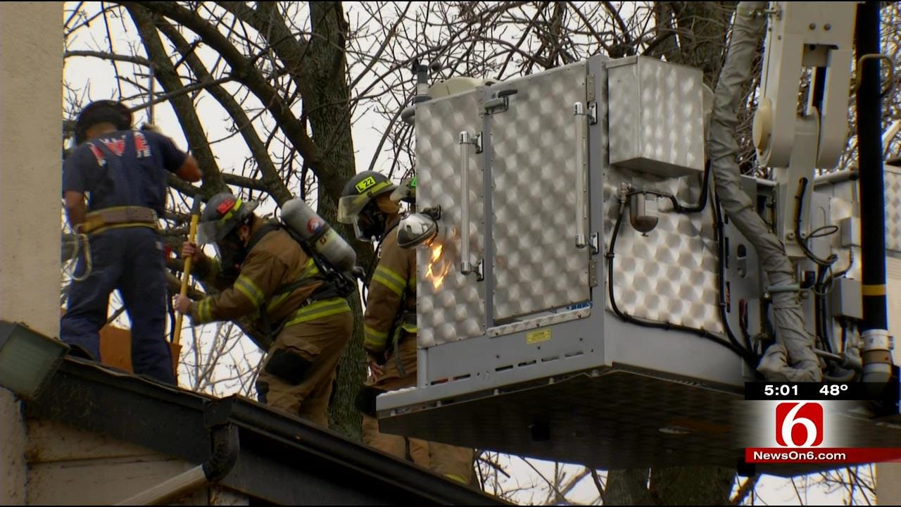 Doomed Tulsa Apartment Complex Provides Training For Firefighters