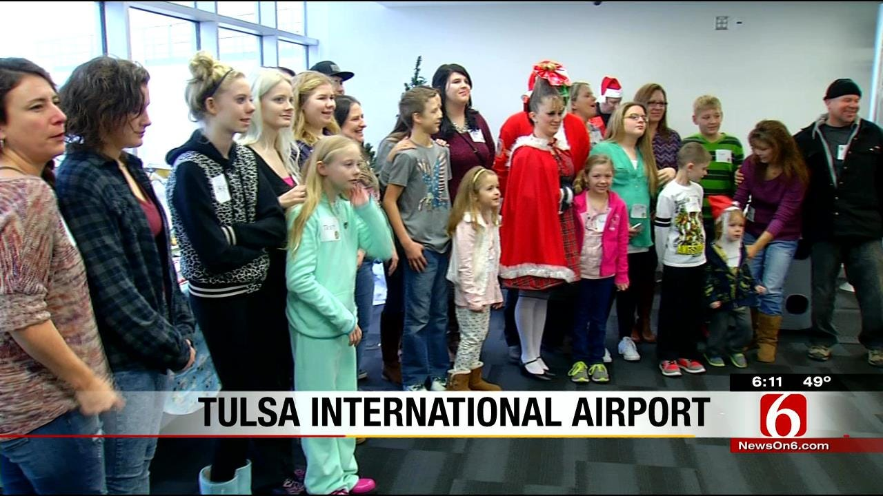 Tulsa Area Military Families Take Trip On American Airlines' Snowball Express