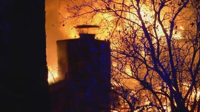 WEB EXTRA: Video From Scene Of Fatal Catoosa House Fire