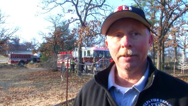 WEB EXTRA: Sapulpa Fire Battalion Chief Mitch Long Talks About Fire