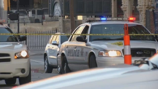WEB EXTRA: Video Of Downtown Tulsa Street Where Man's Body Found