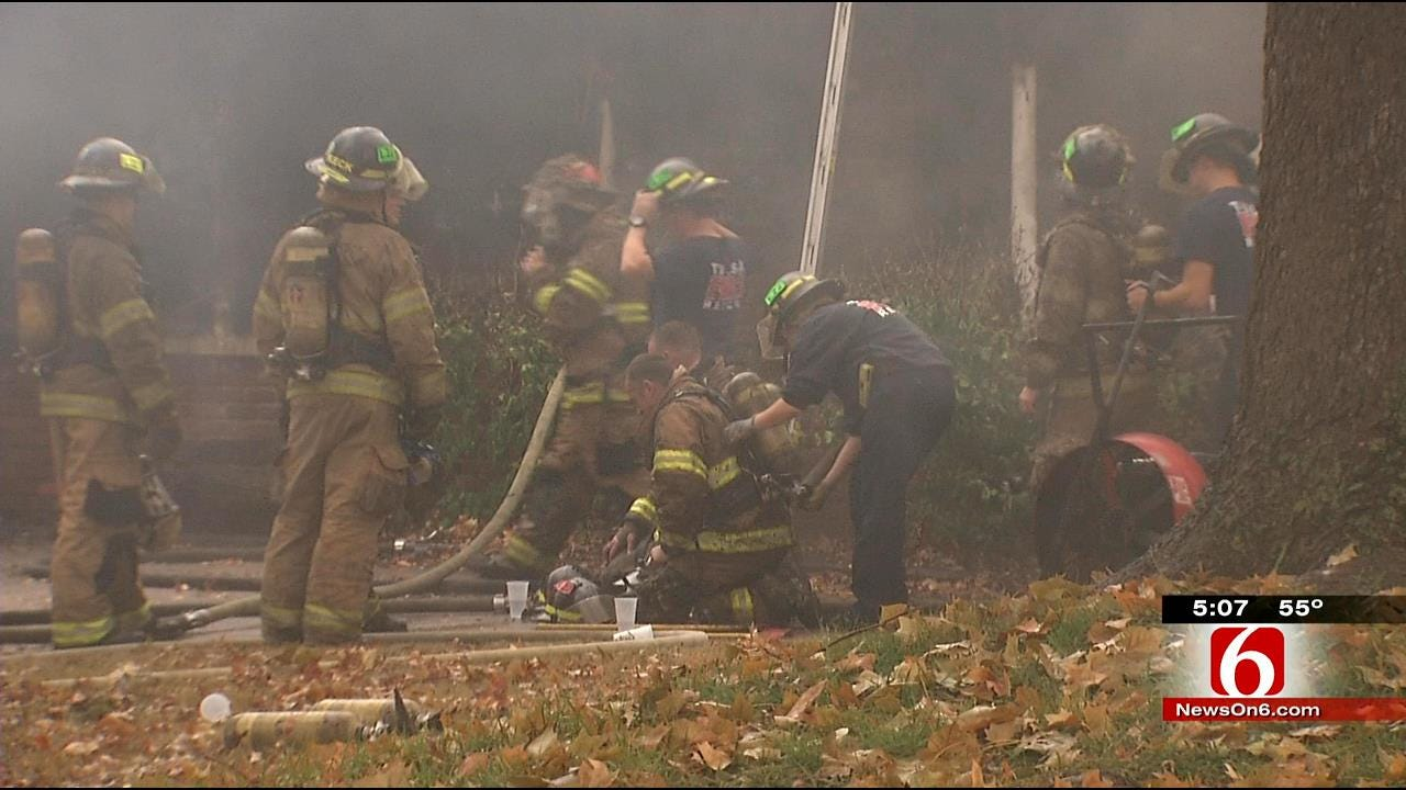 Man Burned In Tulsa House Fire