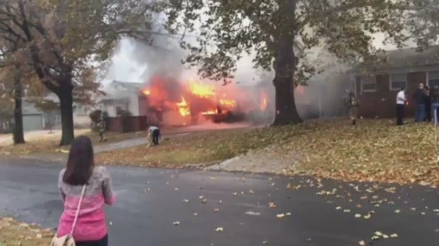 WEB EXTRA: Viewer Footage Of Midtown House Fire