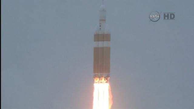 WEB EXTRA: Video Of Orion Spacecraft Rocket Launch In Florida