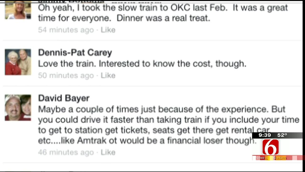 OK Talk: Would You Use A Passenger Train From Tulsa To OKC?