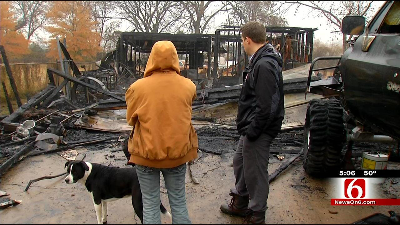 Fire Destroys More Than Just Garage For West Tulsa Family