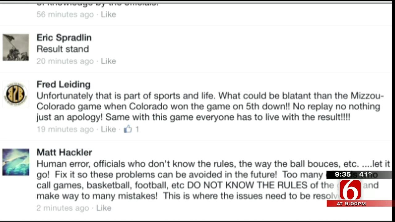 OK Talk: Should A Football Game Be Replayed Because Of A Blown Call?