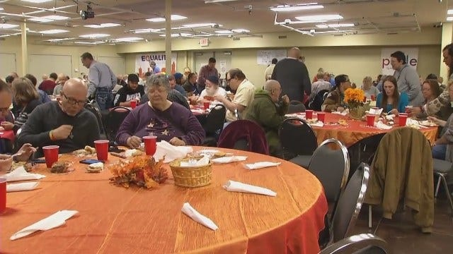 WEB EXTRA: Video From Thanksgiving Day Meal At Dennis R. Neill Equality Center