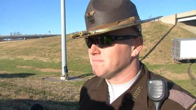 WEB EXTRA: OHP Trooper Shaun Vann Talks About Semi Crash