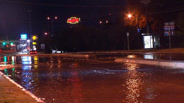 WEB EXTRA: Video Of Street Flooding On Memorial Drive Due To Water Line Break
