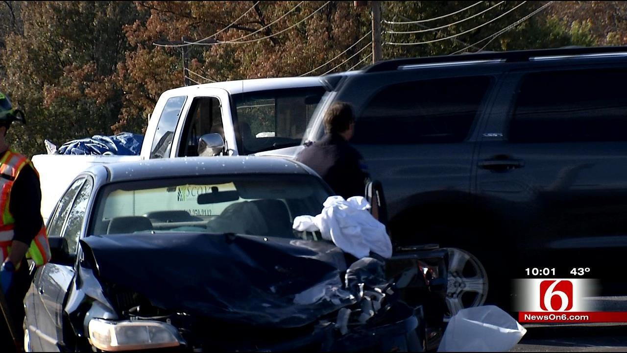 Tulsa Police Chase Ends In Crash; 4 Taken To Hospital