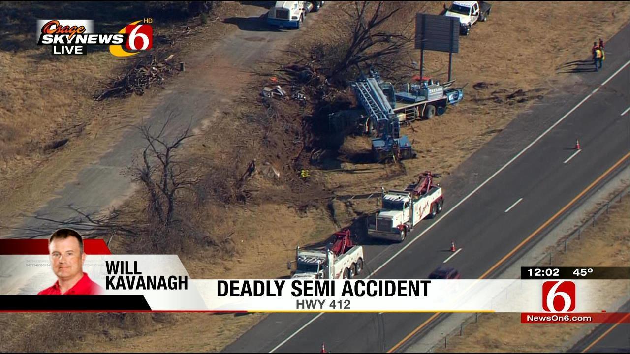 Osage SkyNews 6 HD Flies Over Crane Wreckage West Of Sand Springs