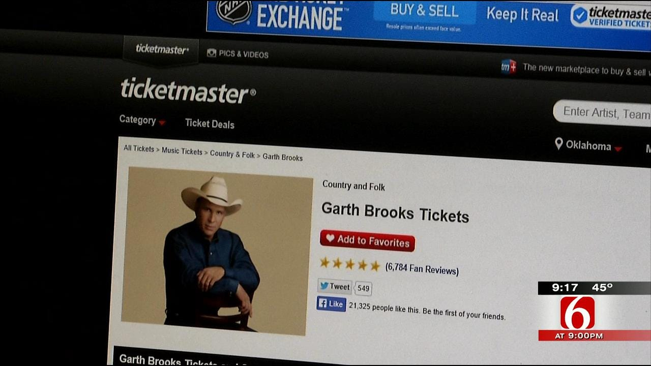 Errors Give Jenks Family 12 Tickets To Garth Brooks, Ticketmaster Locks Account