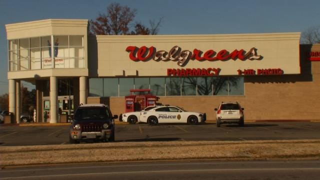 WEB EXTRA: Video From Scene Of Sapulpa Walgreens Robbery