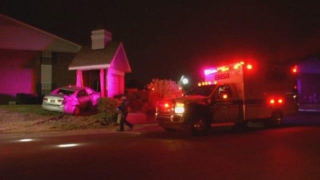 WEB EXTRA: Aggressive Driver Plows Into Tulsa Building