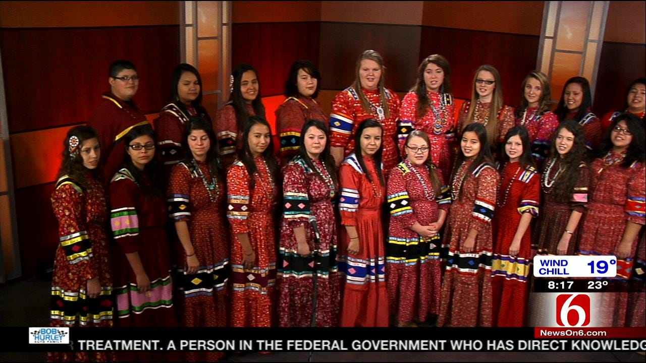 The Cherokee National Youth Choir SIngs Song On 6 In The Morning