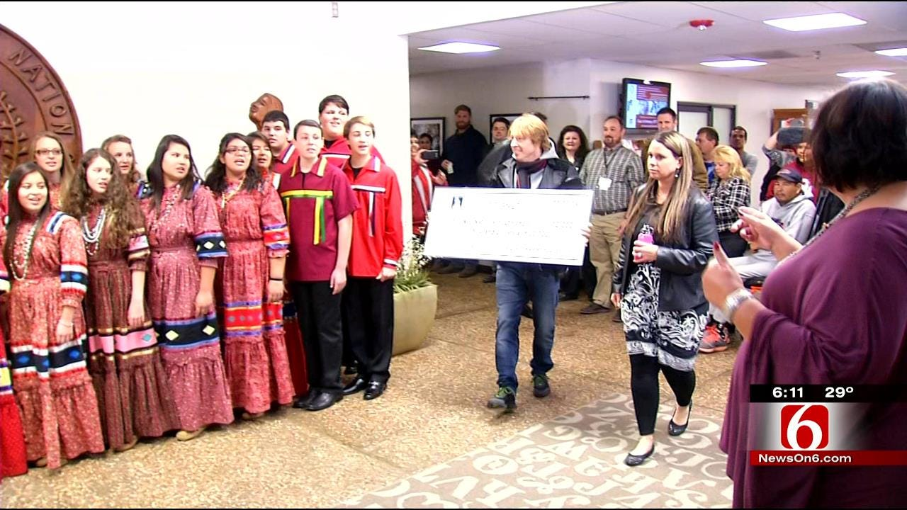 Cherokee Youth Choir Receive $10,000 Grant From Famous Rock Band