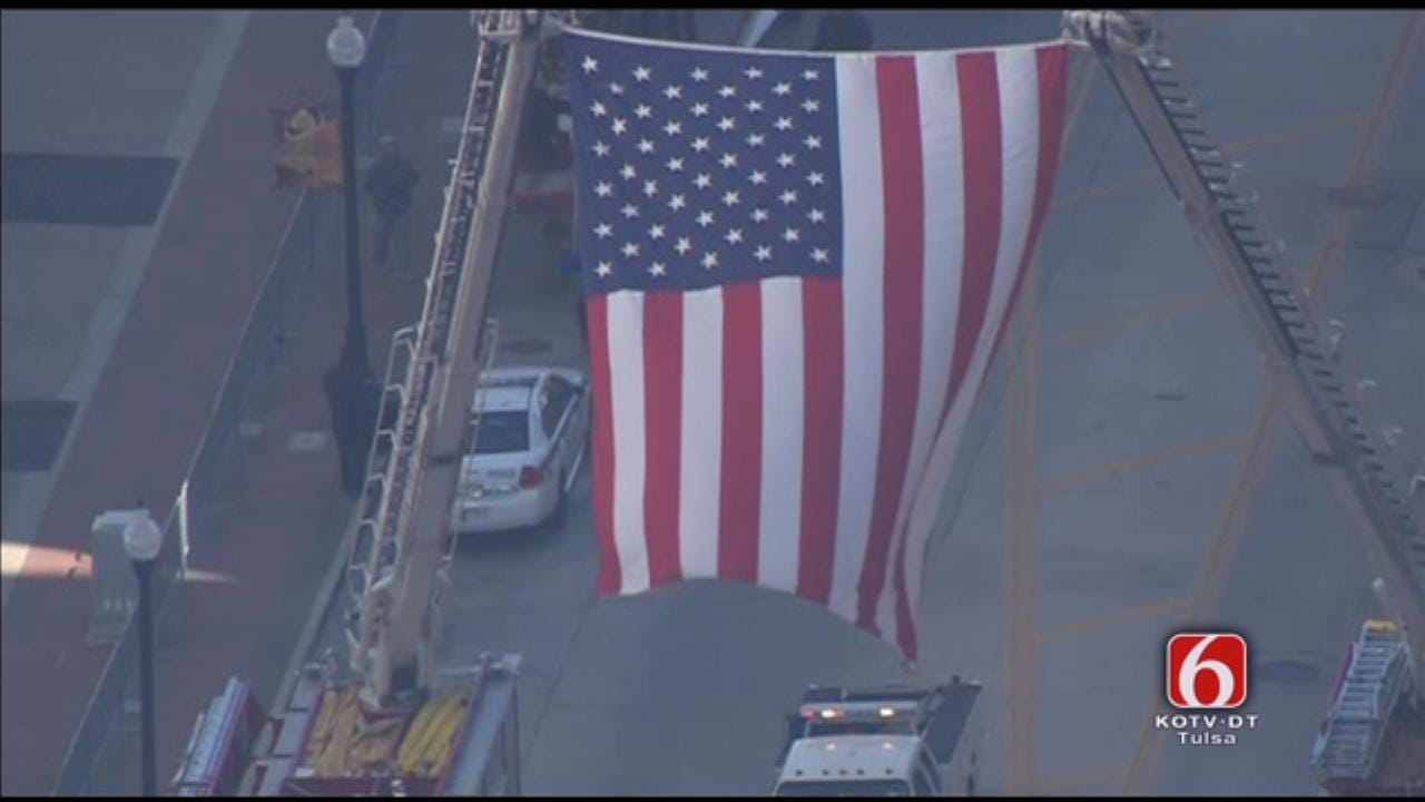 Osage SkyNews 6 HD: Huge American Flags Flown, Carried During Veterans Day Parade