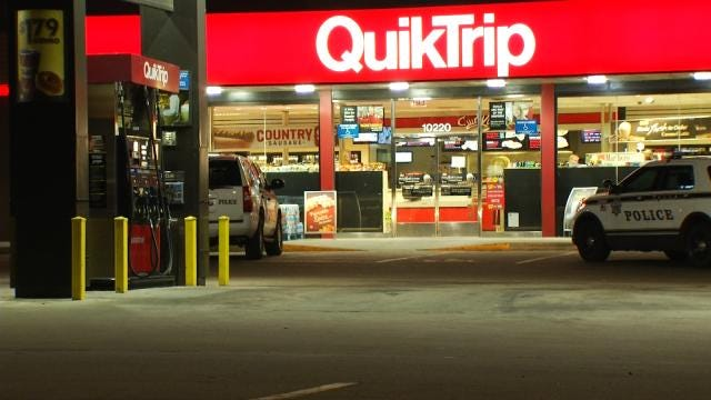 WEB EXTRA: Video From Scene Of East Tulsa QuikTrip Robbery