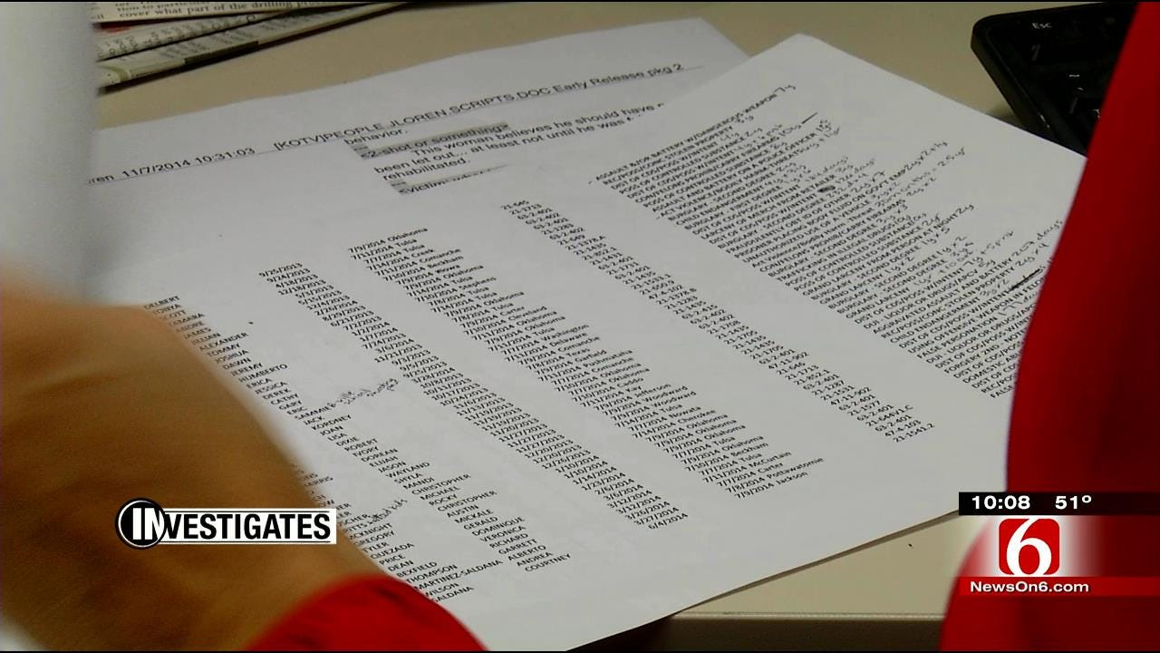 6 Investigates: Records Show Oklahoma Prisons Release Most Criminals Early