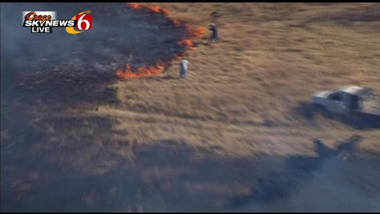 WEB EXTRA: More Video From Osage SkyNews 6 HD Of Owasso Grass Fire