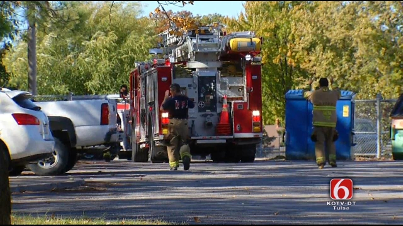 WEB EXTRA: Air Conditioner Fire At Tulsa's Grissom Elementary